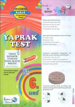 Karaca Yayınları 6. Sınıf Tüm Dersler Çek Kopar Yaprak Test