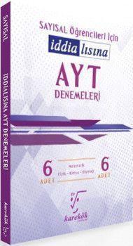 Karekök Yayınları AYT Sayısal Öğrencileri İçin İddialısına 6lı Denemeleri