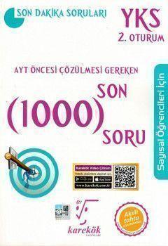 Karekök Yayınları AYT Öncesi Çözülmesi Gereken Son 1000 SoruSayısal