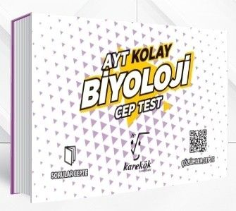 Karekök Yayınları AYT Biyoloji Kolay Cep Test
