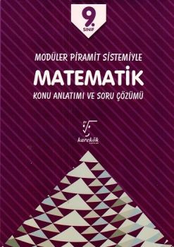 Karekök Yayınları 9. Sınıf Matematik Modüler Piramit Sistemiyle Konu Anlatımı ve Soru Çözümü