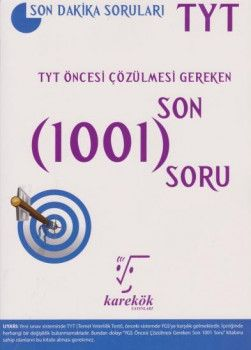 Karekök Yayınları YKS 1. Oturum TYT Öncesi Çözülmesi Gereken Son 1001 Soru