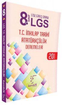 Karekök Yayınları 8. Sınıf LGS T.C. İnkılap Tarihi ve Atatürkçülük 20 Deneme