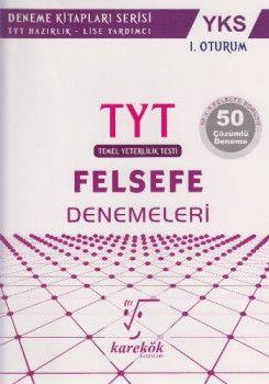 Karekök Yayınları YKS 1. Oturum TYT Felsefe 50 Çözümlü Deneme