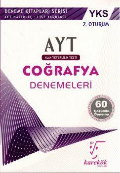 Karekök Yayınları YKS 2. Oturum AYT Coğrafya Çözümlü 60 Deneme