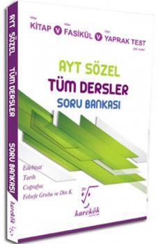 Karekök Yayınları YKS 2. Oturum AYT Sözel Tüm Dersler Soru Bankası