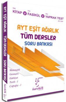 Karekök Yayınları YKS 2. Oturum AYT Eşit Ağırlık Tüm Dersler Soru Bankası