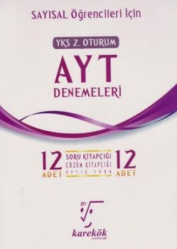 Karekök Yayınları YKS 2. Oturum AYT Sayısal 12 Deneme
