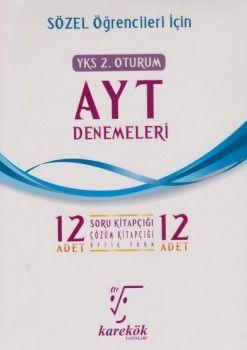 Karekök Yayınları YKS 2. Oturum AYT Sözel 12 Deneme