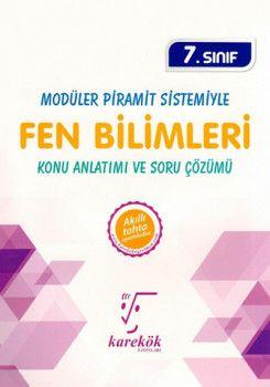 Karekök Yayınları 7. Sınıf Modüler Piramit Sistemiyle Fen Bilimleri Konu Anlatımı ve Soru Çözümü