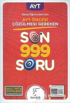 Karekök Yayınları  AYT Öncesi Çözülmesi Gereken Sözel Son 999 Soru