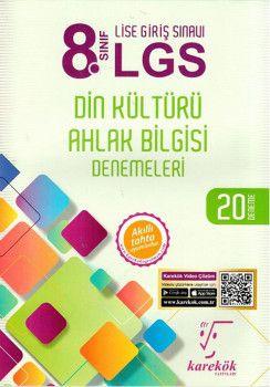 Karekök Yayınları 8. Sınıf LGS Din Kültürü ve Ahlak Bilgisi Denemeleri