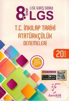 Karekök Yayınları 8. Sınıf LGS T.C. İnkılap Tarihi Atatürkçülük Denemeleri
