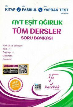 Karekök Yayınları AYT Eşit Ağırlık Tüm Dersler Soru Bankası