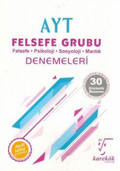 Karekök Yayınları AYT Felsefe Grubu 30lu Denemeleri