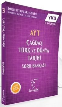 Karekök Yayınları AYT Çağdaş Türk ve Dünya Tarihi Soru Bankası