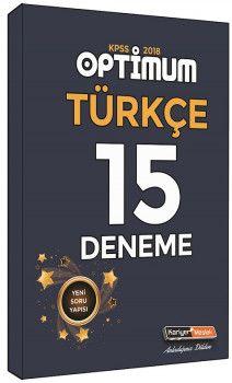 Kariyer Meslek 2018 KPSS Optimum Türkçe 15 Deneme Sınavı