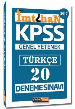 Kariyer Meslek Yayınları KPSS 2017 İmtihan Türkçe 20 Deneme Sınavı