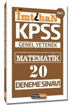 Kariyer Meslek Yayınları KPSS 2017 İmtihan Matematik 20 Deneme Sınavı