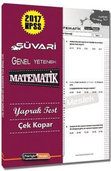 Kariyer Meslek Yayınları 2017 Süvari KPSS Matematik Çek Kopar Yaprak Test