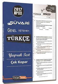 Kariyer Meslek Yayınları 2017 KPSS Süvari Türkçe Çek Kopar Yaprak Test