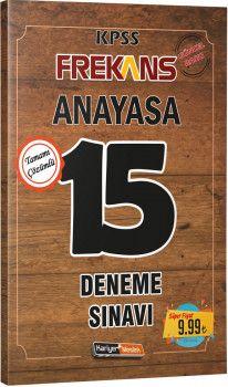 Kariyer Meslek Yayınları KPSS Anayasa Frekans 15 Deneme Sınavı