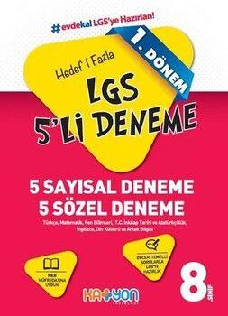 Katyon Yayınları 8. Sınıf LGS 1. Dönem Hedef 1 Fazla 5 li Deneme