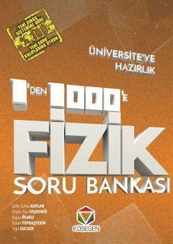 Köşegen Yayınları Üniversiteye Hazırlık Fizik 1 den 1000 e Soru Bankası