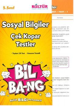 Kültür Yayıncılık 5. Sınıf Sosyal Bilgiler Bil Bang Çek Kopar Testler
