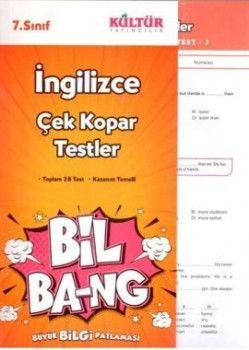Kültür Yayıncılık 7. Sınıf İngilizce Çek Kopar Testler