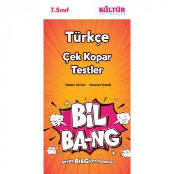 Kültür Yayıncılık 7. Sınıf Türkçe Bil Bang Çek Kopar Testler