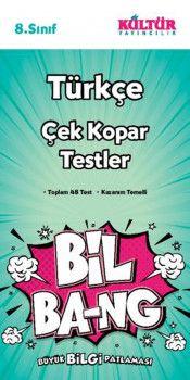 Kültür Yayıncılık 8. Sınıf Türkçe Bil Bang Çek Kopar Testler