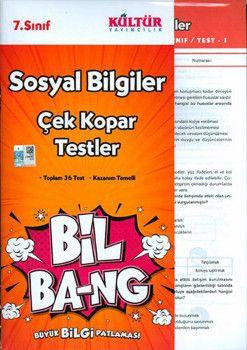 Kültür Yayıncılık 7. Sınıf Sosyal Bilgiler Bil Bang Çek Kopar Testler