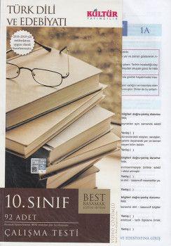 Kültür Yayıncılık 10. Sınıf Türk Dili ve Edebiyatı Çalışma Testleri
