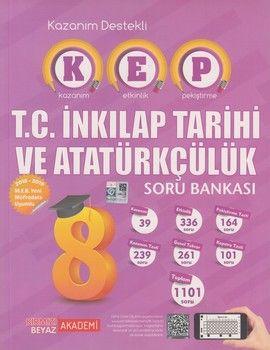 Kırmızı Beyaz Yayınları 8. Sınıf T.C. İnkılap Tarihi ve Atatürkçülük KEP Soru Bankası