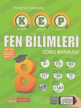 Kırmızı Beyaz Yayınları 8. Sınıf Fen Bilimleri KEP Soru Bankası