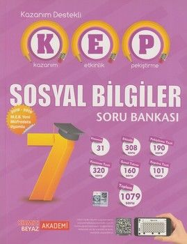 Kırmızı Beyaz Yayınları 7. Sınıf Sosyal Bilgiler KEP Soru Bankası