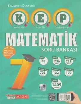 Kırmızı Beyaz Yayınları 7. Sınıf Matematik KEP Soru Bankası