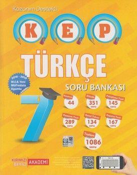 Kırmızı Beyaz Yayınları 7. Sınıf Türkçe KEP Soru Bankası
