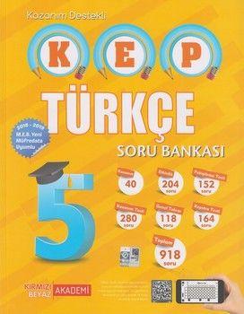 Kırmızı Beyaz Yayınları 5. Sınıf Türkçe KEP Soru Bankası