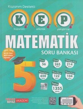 Kırmızı Beyaz Yayınları 5. Sınıf Matematik KEP Soru Bankası