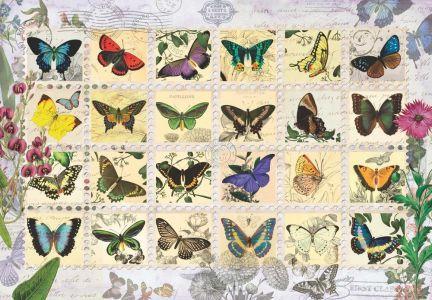 Kelebekler  Butterfly Stamps 500 Parça Puzzle - Yapboz