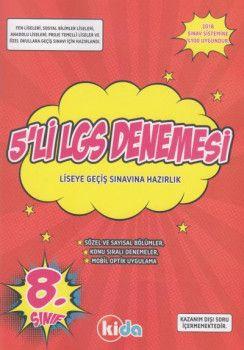 Kida Yayınları 8. Sınıf LGS 5 li Deneme