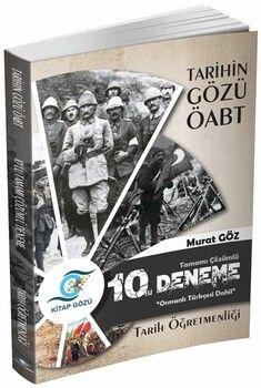 Kitap Gözü Yayınları2021 Tarihin Gözü ÖABT Tamamı Çözümlü 10 lu Deneme