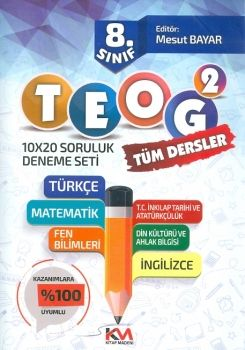 Kitap Madeni Yayınları 8. Sınıf TEOG 2 Tüm Dersler 10x20 Soruluk Deneme Seti