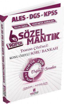 Kitap Mucidi Yayınları ALES DGS KPSS Sözel Mantık 6 Adımda Tamamı Çözümlü Konu Özetli Soru Bankası