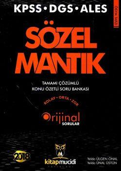 Kitap Mucidi Yayınları 2018 KPSS DGS ALES Sözel Mantık Tamamı Çözümlü Konu Özetli Soru Bankası