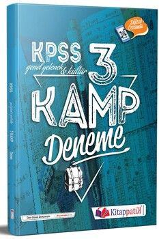 Kitappatik KPSS Genel Yetenek Kültür Kamp 3 Deneme Dijital Çözümlü
