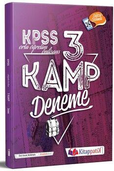 Kitappatik KPSS Lise Önlisans Genel Yetenek Kültür Kamp 3 Deneme Dijital Çözümlü