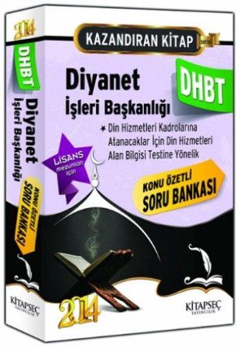 Kitapseç DHBT Diyanet İşleri Başkanlığı Lisans Konu Özetli Soru Bankası